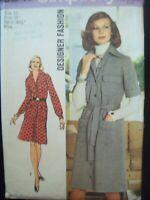 Vintage Simplicity Pattern 5847 Designer Fashion 2-Piece Dress Cut Size 12