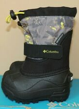 NEW BOYS GIRLS COLUMBIA TODDLER TWIN TUNDRA SNOW BOOTS WATERPROOF BLACK CAMO 4