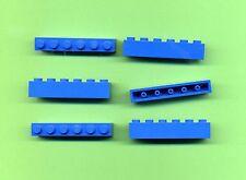 LEGO -- 3009 --- 1 x 6 -- BLU -- BASIC -- 6 pezzi --