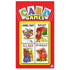 4pc Vintage Early Learning Snap Old Maid Playing Cards Game For Kids Childrens