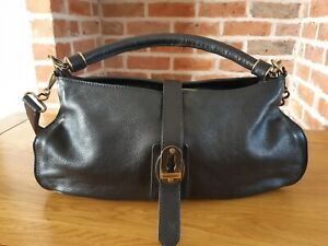 Burberry Handbag With Shoulder Strap Bag Black with dustbag