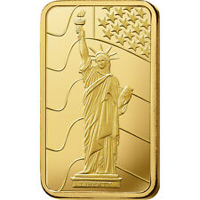 L@@K PAMP 1oz GOLD Bar |Statue of Liberty| Minted PREPPER Survival Investment !!