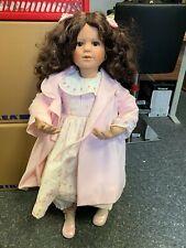 Inge Tenbusch Künstlerpuppe Porzellan Puppe 88 cm. Top Zustand