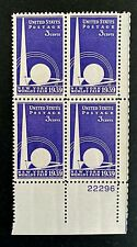 US Stamps, Scott #853 3c 1939 Plate Block of New York World's Fair VF/XF M/NH.