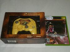 XBOX GAME & CONTROLLER LOT SET MORTAL KOMBAT FATALITY DECEPTION LIMITED SCORPION