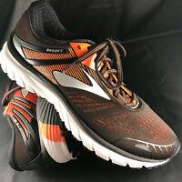 Brooks Adrenaline GTS 18 Mens Running Shoes, Black Orange, Size 9.5 US Medium 43