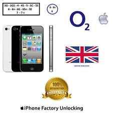 UNLOCK YOUR iPhone O2 UK Tesco  3G 4 4S 5 5C 5S 6 6+ 6S 6S+ SE 7 7+ 8 8+ X (ALL)