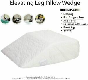 Upholstery Foam ORTHOPAEDIC Leg Wedge Pillow For Back and Hip & knee Support