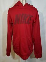 Nike Hoodie Sweatshirt Men's Large Therma-fit Long Sleeve Red