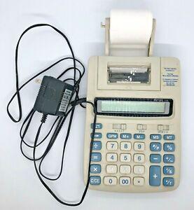 Victor 1208 Digit Compact Desktop Commercial Printing Calculator Tested Vintage