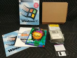 "Microsoft Windows 95 Full Version w/Product Key 3.5"" Floppy for PCs"