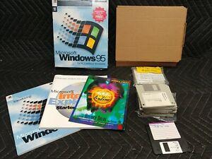 "Microsoft Windows 95 Full Version w/Product Key 3.5"" Floppy for PCs"