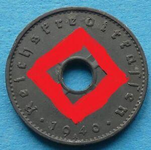 ! REICHSKREDITKASSEN 10 Reichspfennig 1940 A vz/vz- xf/xf- SELTEN RARE