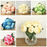 FM- 6 HEADS SILK FAKE ARTIFICIAL PEONY FLOWER BOUQUET WEDDING PARTY HOME DECOR C
