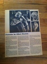 Vintage 1955 Formulas By Albert Einstein / Alice Stuart Lord & Taylor advert ad