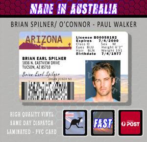 PAUL WALKER BRIAN SPILNER PVC LICENCE - Parody Prop Gift Novelty FAST N FURIOUS