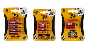 JCB ZINC BATTERIES CELL AAA AA C D 9v BATTERY REMOTE CONTROLLER