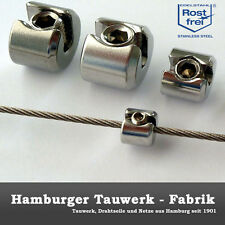 Seilklemmring 1-teilig Edelstahl für 2mm Drahtseil Klemmring Seilstopper Klemme