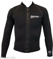 Bare 3mm Sport Front Zip Jacket Scuba Diving Wetsuit Men's NEW