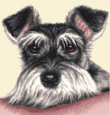 MINIATURE SCHNAUZER - Full counted cross stitch kit
