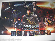 Mass Effect Trilogy 2 3 N7 Day Male Shepard Team Lithograph Giclee Print
