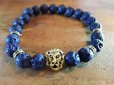 LIONS FACE Volcanic Stone Spiritual Healing FEE SIZE BRACELET