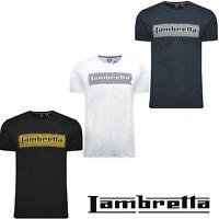 Mens Cotton T-Shirts Tee Lambretta Retro Summer Printed Design Casual UK S-4XL