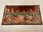 """Vintage Velvet Tapestry, Spanish Dancers Scene~Wall hanging ~37 1/2"""" x 21"""""""
