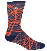 Denver Broncos NFL For Bare Feet Fiber Soft Crew Socks SIZE LARGE