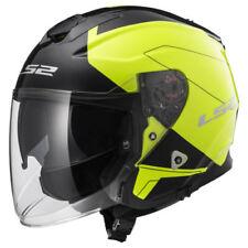 Casques jaunes moto pour véhicule fibre de verre