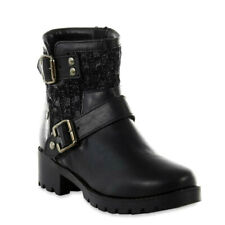 Route 66 Women's Wilshire Black Motorcycle Boot Size US 7 Fast Shipping