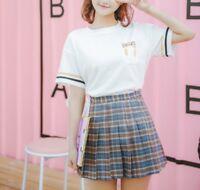 New Women Girl Fashion Korean Spring Summer Top Casual T-Shirt Cute Striped