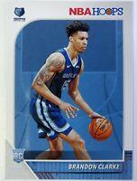 2019-20 Panini NBA Hoops Brandon Clarke Rookie RC #217, Memphis Grizzlies