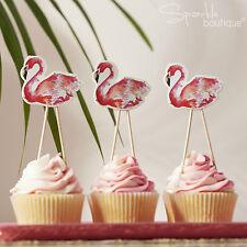 Fenicottero Tropicale Decorazioni per torta-cupcake Picks/Decorazioni-BBQ/Feste/Hawaiano