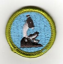 General Science Merit Badge Typ H, Plastic Back (1972-1995), Mint!