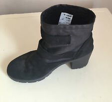 Womens  Black Leather Ankle Boots New Look UK Size 5 0R 6