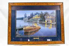 Darrell Bush Legends At Bay Signed Numbered Print Chris Craft Boat Lake Home