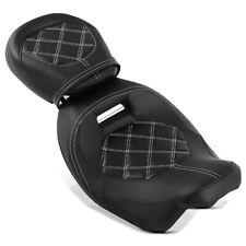 Sitzbank für Harley Street Glide 09-20 Craftride RH3 schwarz-weiß