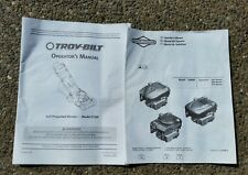 2008 Troy-Bilt E189 Lawn Mower & Briggs & Stratton 625/650/675 Operator Manuals