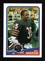 1988 Topps #71 Neal Anderson Chicago Bears Football Rookie Card NM/MT