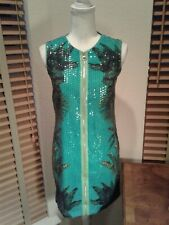 NWT Versace for H&M Miami Palm Tree Sequin Dress Alligator Back Size 6    P10761