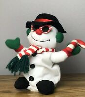 Motion Activated Animated Snowman Musical Rapping Christmas Ice Ice Baby Snow