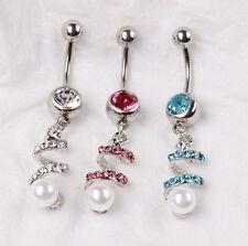 Unbranded Pearl Stainless Steel Body Piercing Jewellery