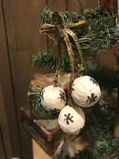 Antique Germany Spun Cotton Balls Ornament