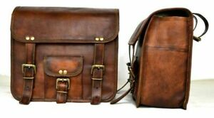 Motorcycle links und rechts Side bag Brown Leather Saddle Bags Panniers