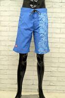 Costume MUPRHY & NYE Uomo Taglia 44 Mare Piscina Bagno Shorts Pantaloncino Blu