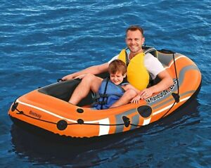 New Bestway Inflatable Fishing Rowing Boat Raft Canoe Kayak Dinghy Rubber Boat