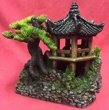 """Repile Terrario Ornamento asiatico ZEN PAGODA Orientale Casa Decorazione Serbatoio 8 x 9"""""""