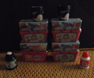 Lot of 4 Shopkins Real Littles Mini Packs Basket Toys with 4 RARE SHOPKINS