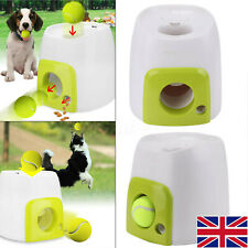 Automatic Interactive Pet Dog Treat Tennis Ball Thrower Toy Fetch Training
